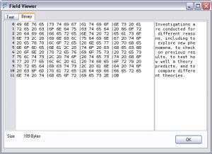 MySQL Query Browser Text Viewer
